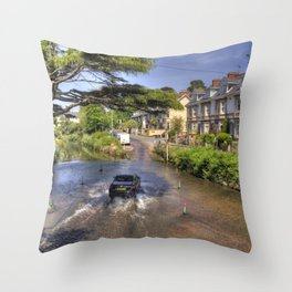Sidmouth River Crossing  Throw Pillow