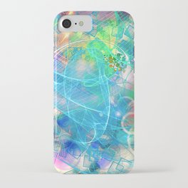 Neon Abstract Design 2 iPhone Case