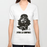 la V-neck T-shirts featuring Viva la Empire! by 6amcrisis