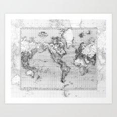 Marbled World Art Print