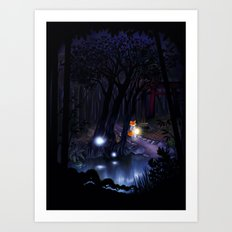 Mythical forest Art Print