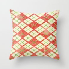 Vintage Wrapping Paper Throw Pillow