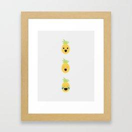 Pineapple Vibes on High Framed Art Print