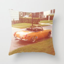 Tangerine Speedo Throw Pillow