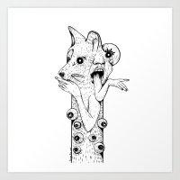 werewolf Art Prints featuring Werewolf by Benson Koo