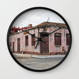 Trinidad Cuba Streets Old City Latin America Tropical Island Caribbean Sea Calle Casa Edificio Archi Wall Clock