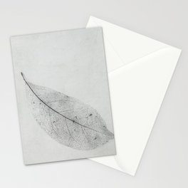 leaf skeleton on texture Stationery Cards