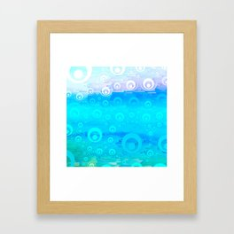 Blue Sky Bubble Pattern Framed Art Print