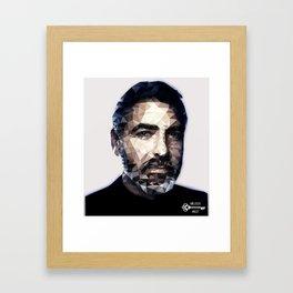 Jawge Clooney realtime Framed Art Print