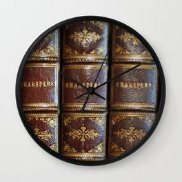 Shakespeare books Wall Clock
