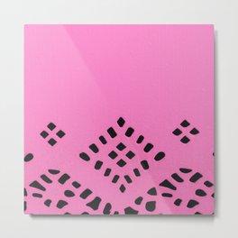 Pink Geo Metal Print
