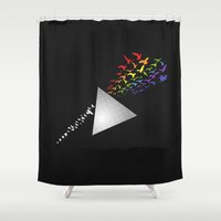 prism Shower Curtains featuring Prism Break by RJ Artworks
