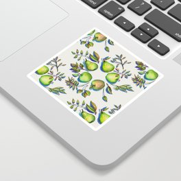 Summer's End - apples and pears Sticker