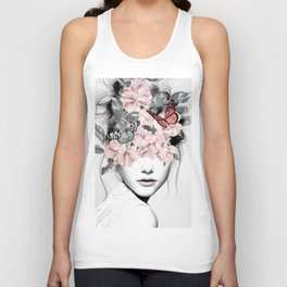 WOMAN WITH FLOWERS 10 Unisex Tank Top
