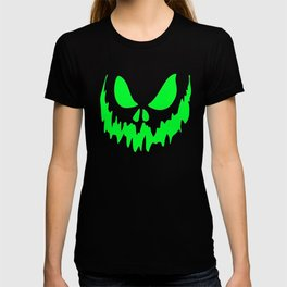Scary Face Halloween Tshirt- Glow in the Dark Effect Print T-shirt