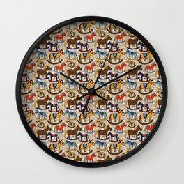 Rocking horses Wall Clock