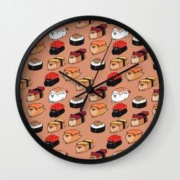 Sushi Pomeranian Wall Clock