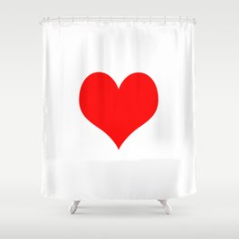 Classic Old Red Love Shower Curtain
