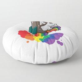 Chubby Unicorn With Jetpack Floor Pillow