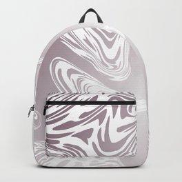 Rose Gold Liquid Marble Effect Design Backpack