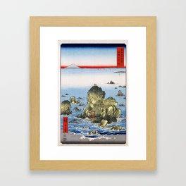 Hiroshige, Futamigaura in Ise Province, 1858 Framed Art Print