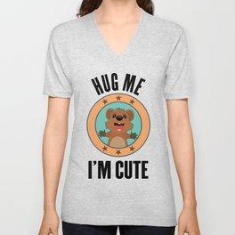 Quokka Australia Kangaroo Marsupial Hug Me Gift Unisex V-Neck