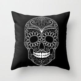 The Dark Side of Skull Throw Pillow