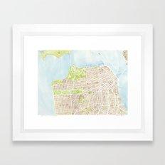 San Francisco CA City Map  Framed Art Print