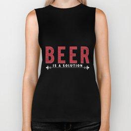 beer is a solution - I love beer Biker Tank