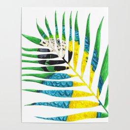 Parrot Palm Leaf Poster