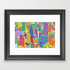 Cityscape windows Framed Art Print