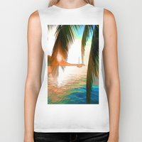paradise Biker Tanks featuring Paradise by Robin Curtiss
