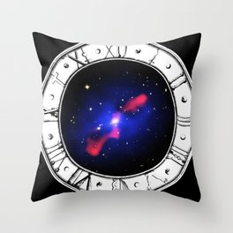 Space/Time Throw Pillow