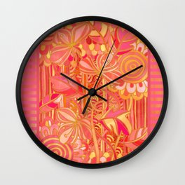 Drawn into the Garden Wall Clock
