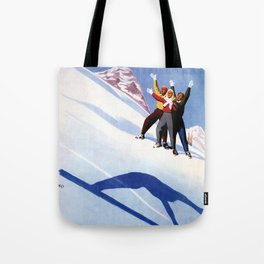 Aosta Valley winter sports Tote Bag