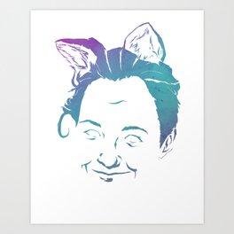 Fox Ears Art Print