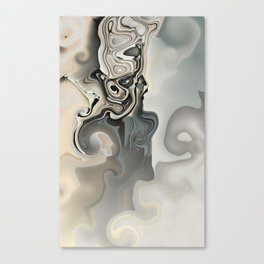 In the Middle: abstract art glitch Canvas Print