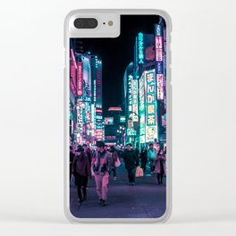 Heart Full Of Neon: Cyberpunk Overload Canvas Print Clear iPhone Case