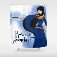 ravenclaw Shower Curtains featuring Rowena Ravenclaw by Hailey Del Rio