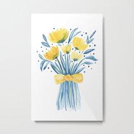 Cheerful Bouquet Metal Print