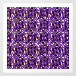 witch pattern Art Print