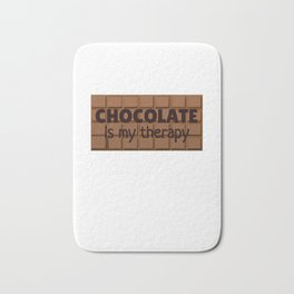 Chocolate Is My Therapy Bath Mat