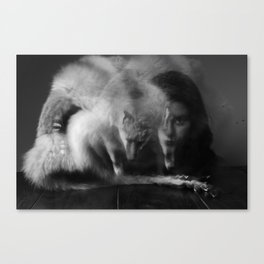 Henry, fox and me Canvas Print