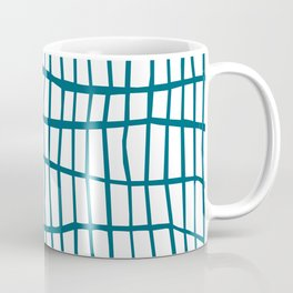 Net Blue on White Coffee Mug