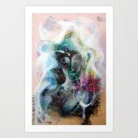 nirvana Art Prints featuring Nirvana by Jongwang Lee