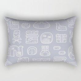 Picto-glyphs Story Rectangular Pillow