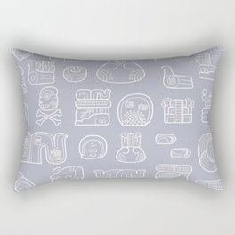 Picto-glyphs Story Rectangular Pillow