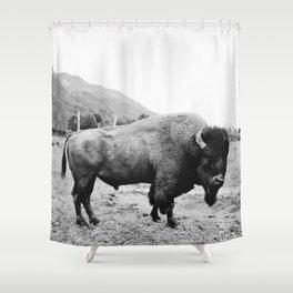 Alaska Bison Shower Curtain