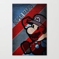 super mario Canvas Prints featuring SUPER MARIO by sbs' things