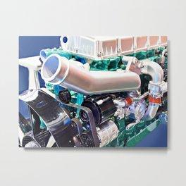 Natural gas engine Metal Print